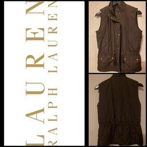 Lauren Ralph Lauren Quilted Drawstring Waist Vest